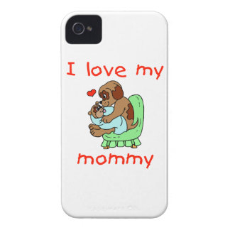 I love my mommy (puppies) iPhone 4 cases