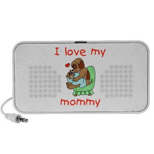 I love my mommy (puppies) iPhone speakers