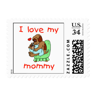 I love my mommy (puppies) stamp