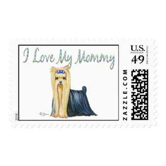 I Love My Mommy Yorkshire Terrier Postage Stamps