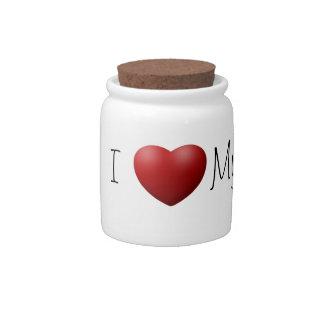 I Love My Moms Pet Treat/Candy Jar Candy Jars