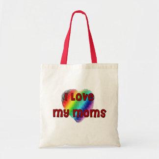 I Love My Moms Tote Bag