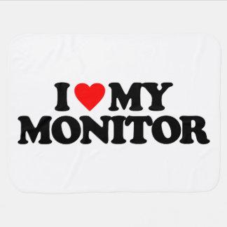 I LOVE MY MONITOR SWADDLE BLANKET