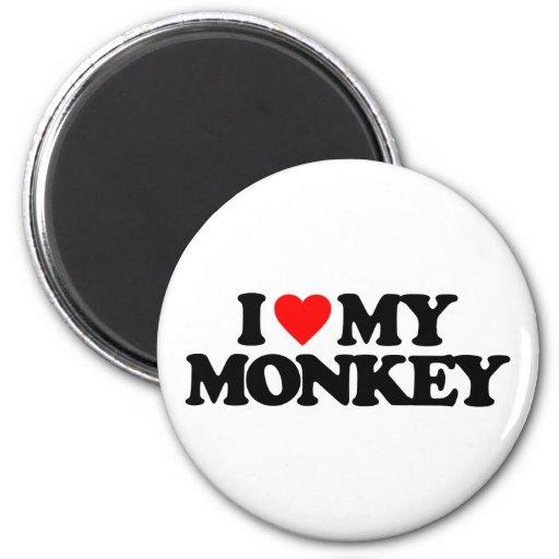 I LOVE MY MONKEY MAGNET