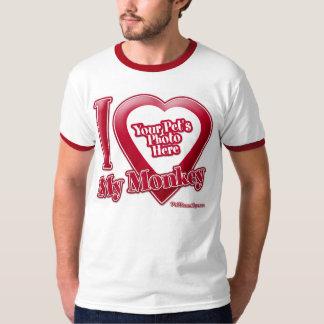 I Love My Monkey - Photo T-Shirt