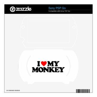 I LOVE MY MONKEY SKINS FOR SONY PSP GO