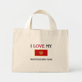 I Love My Montenegrin Mom Canvas Bags
