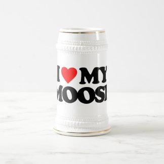I LOVE MY MOOSE 18 OZ BEER STEIN