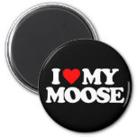 I LOVE MY MOOSE 2 INCH ROUND MAGNET