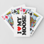 I LOVE MY MOOSE BICYCLE PLAYING CARDS