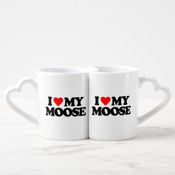 I LOVE MY MOOSE COFFEE MUG SET