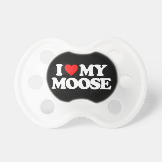 I LOVE MY MOOSE BooginHead PACIFIER