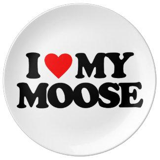I LOVE MY MOOSE PLATE