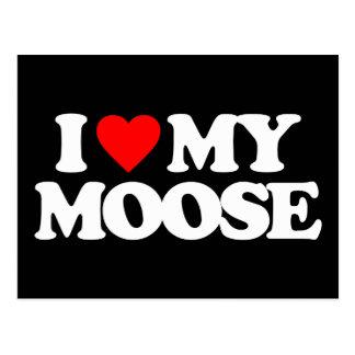 I LOVE MY MOOSE POSTCARD