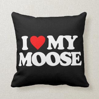 I LOVE MY MOOSE THROW PILLOW