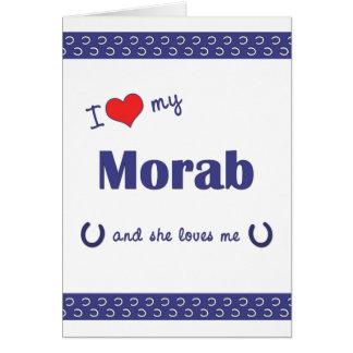 I Love My Morab (Female Horse) Stationery Note Card