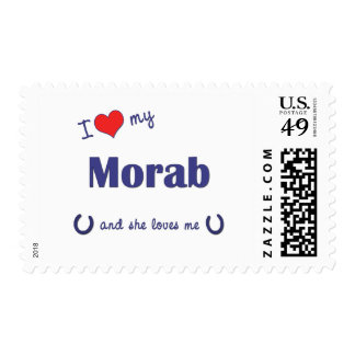 I Love My Morab (Female Horse) Stamps