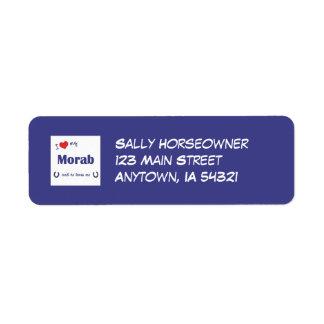 I Love My Morab (Male Horse) Custom Return Address Labels