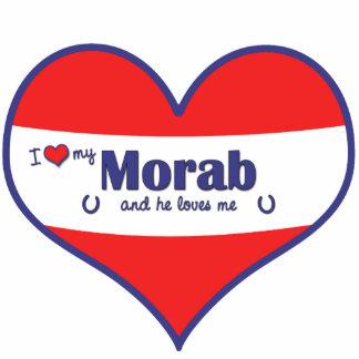 I Love My Morab (Male Horse) Photo Cutout