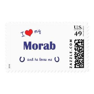 I Love My Morab (Male Horse) Stamp