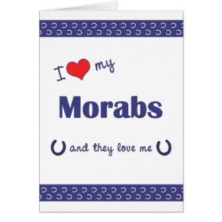 I Love My Morabs (Multiple Horses) Stationery Note Card