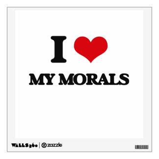 I Love My Morals Room Graphic