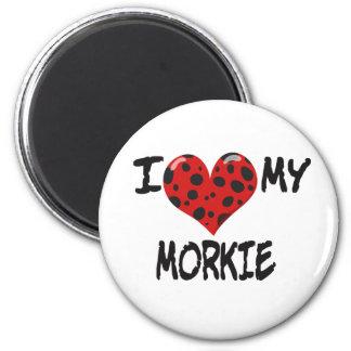 I love my Morkie 2 Inch Round Magnet
