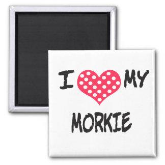 I love my Morkie 2 Inch Square Magnet
