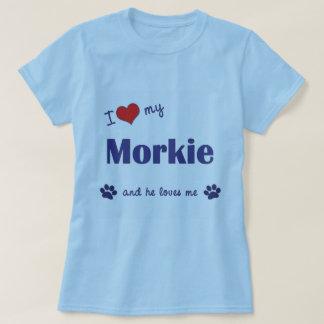 I Love My Morkie (Male Dog) T-shirt