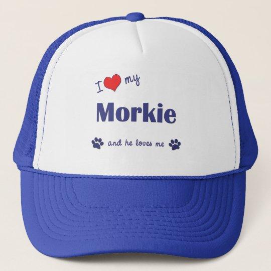 I Love My Morkie (Male Dog) Trucker Hat