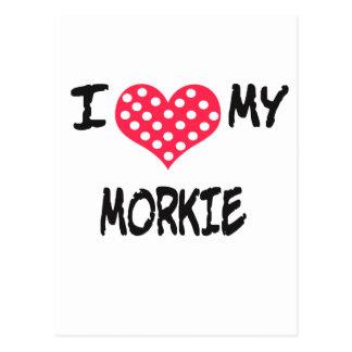 I love my Morkie Postcard