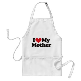 I Love My Mother Adult Apron