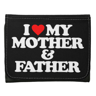 I LOVE MY MOTHER & FATHER WALLETS