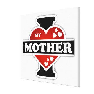 I Love My Mother Heartbeats Canvas Print