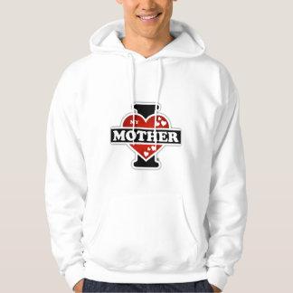 I Love My Mother Heartbeats Hoodie