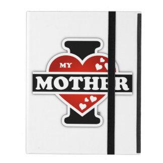 I Love My Mother Heartbeats iPad Folio Cases
