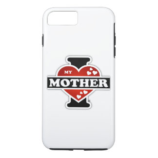 I Love My Mother Heartbeats iPhone 8 Plus/7 Plus Case