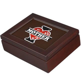 I Love My Mother Heartbeats Keepsake Box
