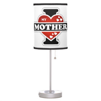I Love My Mother Heartbeats Table Lamp