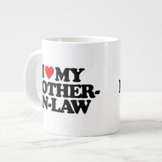 I LOVE MY MOTHER-IN-LAW 20 OZ LARGE CERAMIC COFFEE MUG