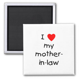 I love my mother-in-law 2 inch square magnet