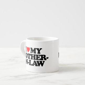 I LOVE MY MOTHER-IN-LAW 6 OZ CERAMIC ESPRESSO CUP