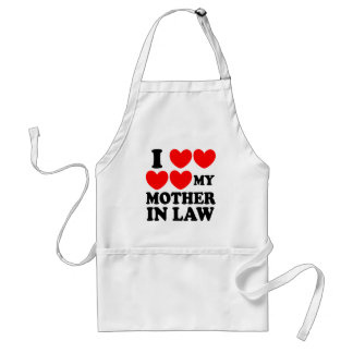 I Love My Mother In Law Adult Apron