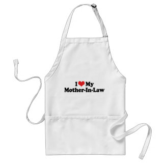 I Love My Mother-In-Law Adult Apron