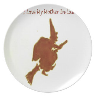 I love my mother in law dinner plate