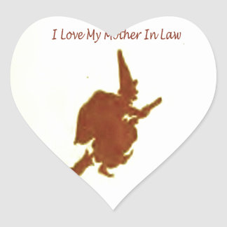 I love my mother in law heart sticker