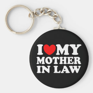 I Love My Mother In Law Basic Round Button Keychain