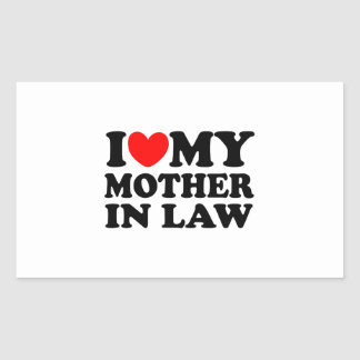 I Love My Mother In Law Rectangular Sticker