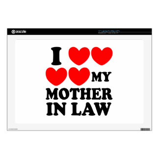I Love My Mother In Law Skin For Laptop