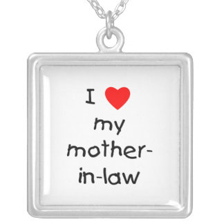 I love my mother-in-law square pendant necklace